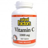 Vitamin C- Time Release- 1000 mg (180 tablets) - Natural Factors
