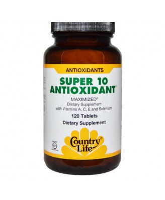 Country Life, Gluten Free, Super 10 Antioxidant, 120 Tablets