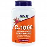 C-1000 met Rozenbottel & Bioflavonoïden (250 tabs) - NOW Foods