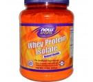 Proteína aislada de suero de leche en polvo vainilla natural (816 g) - Now Foods