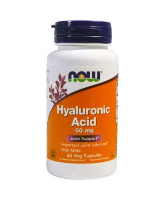 Hyaluronic Acid 50 mg (60 Veggie Caps) - Now Foods
