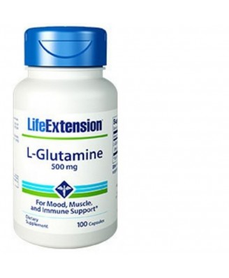 L-Glutamina 500 Mg 100 Cápsulas - Life Extension