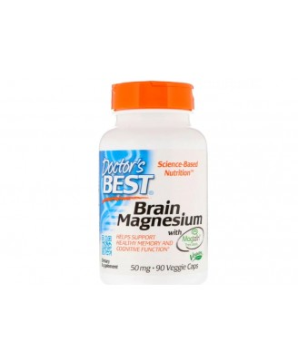 Brain Magnesium with Magtein 50 mg (90 Veggie Caps ) - Doctor's Best