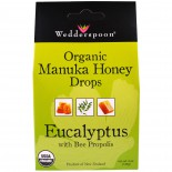 Wedderspoon Organic, Inc., Organic Manuka Honey Drops, Eucalyptus with Bee Propolis, 4 oz (120 g)