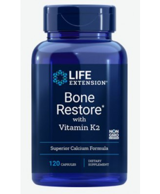 Bone Restore With Vitamin K2 (120 Capsules) - Life Extension