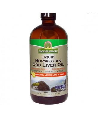 Líquido noruega aceite de hígado de bacalao (480 ml) - respuesta de la naturaleza