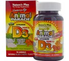 Vitamin D3, Natural Black Cherry Flavor, 500 IU (90 Animals) - Nature's Plus