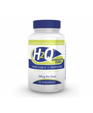 H2Q CoQ-10 (8x Absorption) 100 mg (non-GMO) (60 Vegicaps) - Health Thru Nutrition