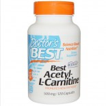 Acetyl-L-Carnitine 500 mg (120 Veggie Caps ) - Doctor's Best