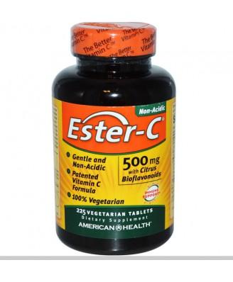 American Health, Ester-C, 500 mg with Citrus Bioflavonoids, 225 Veggie Tabs