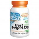 Best Vegan D3 2500 IU (60 Veg Capsules) - Doctor's Best