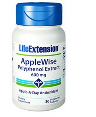 Applewise Extracto Polifenoles 600 Mg - 30 Cápsulas Vegetarianas - Life Extension
