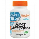 Doctor's Best, Mejores Serrapeptase, 90 Caps Veggie