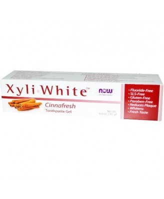 Now Foods - Gel dentífrico Xyliwhite, Cinnafresh, 6,4 onzas (181)