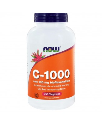 Caps C-1000 con bioflavonoides de 100 mg (250 cápsulas) - Now Foods