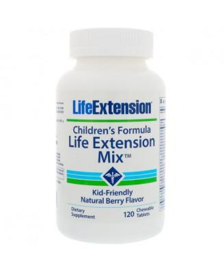 Children's Formula Life Extension Mix - Natural Berry Flavor (120 Chewable Tablets) - Life Extension