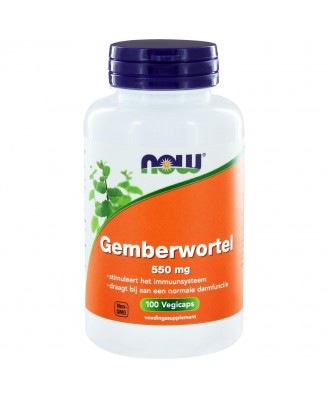 Gemberwortel 550 mg (100 caps) - NOW Foods