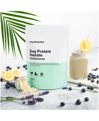 Soy Protein Isolate - Unflavoured (1000 gram) - Myvitamins