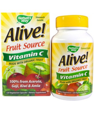 Alive! Vitamine C 100% Whole Food Complex (120 Vcaps) - Nature's Way