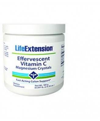 Cristales Vitamina C-Magnesio Efervescentes, 180 gr - Life Extension