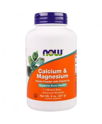 Calcium & Magnesium Powder (227 g) - Now Foods