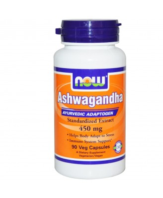 Ashwagandha 450 mg (90 Veggie Caps) - Now Foods