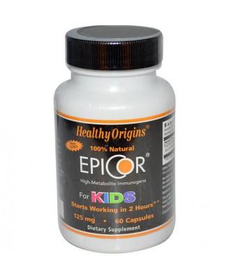 EpiCor for Kids 125 mg (60 Veggie Caps ) - Healthy Origins