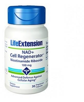 Nad+ Cell Regenerator Nicotinamida Ribósido, 100 Mg 30 Cápsulas Vegetarianas - Life Extension