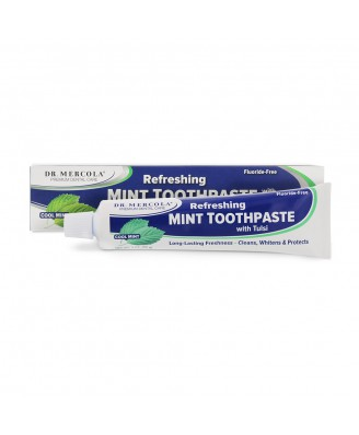 Dr. Mercola, Natural Mint Toothpaste with Tulsi, Fluoride-Free, 6 oz (170 g)